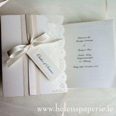 Vintage Lace Wedding Ceremony Booklet