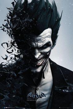Batman Arkham Origins Joker With Bats Poster $9.37