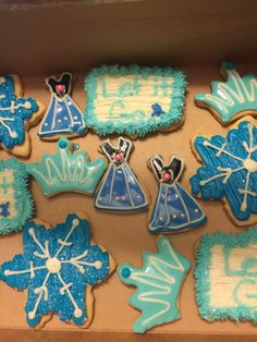 Frozen themed cookies for birthday.