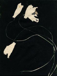 blue-voids: Aurore de la Morinerie - Monotype, 2011 (I don't want realism. Art Blanc, Modern Art, Contemporary Art, Franz Kline, Art Design, Art Plastique, All Art, Foto E Video, Art Inspo