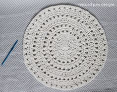 Free Crochet Doily Pattern :: Rescued Paw Designs