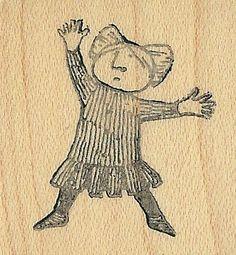 Edward Gorey Kidstamps girl rubber stamp