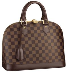A true Louis Vuitton icon,the Alma looks chic and feminine in understated Damier canvas. Its elegant curved shape,shiny golden brass details and smooth leather trimmings embody classic city style Damier Louis Vuitton, Sacs Louis Vuiton, Louis Vuitton Taschen, Louis Vuitton Online, Louis Vuitton Handbags, Christian Audigier, Lv Handbags, Handbags Online, Brown Handbags