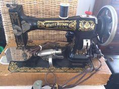 Antique White Sewing Machine around 1903 White Rotary Sewing Machine, Sewing Machine Projects, Sewing Equipment, Antique Sewing Machines, Fancy, Memories, Antiques, Sew, Memoirs