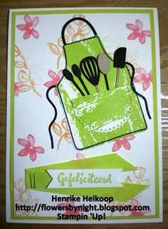 Flowers by night: Apron of Love van Stampin 'Up!