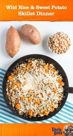 Aren't your favorite dinner dishes always easiest? Us too! That's why this dish for Wild Rice and Sweet Potato Skillet Dinner with UNCLE BEN'S® Long Grain & Wild Original Recipe tops our list of go-to meal ideas. With hints of cheesy, savory flavor, you won't believe that how quick this recipe is to make! Plus, you can find all the simple ingredients you need at Target.