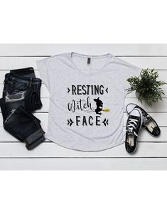 96623518916 Resting Witch Face Dolman Top