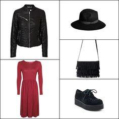 Short pu jacket @veromodafashion ~~ Mia long sleeve midi dress @boohooofficial ~~ Black julia hat @fashionpills ~~ Fringe bag @stradivariusfan ~~ Creepers #1pasomas