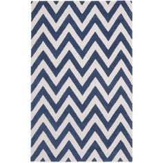 @Overstock.com - Safavieh Handmade Moroccan Cambridge Chevron Navy Wool Rug (5' x 8') - Hand-tufted of a 100-percent wool pile, this handmade wool rug features a special high-low construction to add depth and unusual detailing.  http://www.overstock.com/Home-Garden/Safavieh-Handmade-Moroccan-Cambridge-Chevron-Navy-Wool-Rug-5-x-8/8079809/product.html?CID=214117 $188.99
