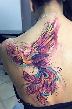 Phoenix Tattoo Feminine, Phoenix Back Tattoo, Phoenix Bird Tattoos, Phoenix Tattoo Design, Phoenix Design, Dope Tattoos, Body Art Tattoos, Hand Tattoos, Tattoos Pics