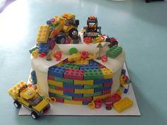 Lego city construction cake