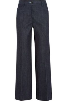 Calvin Klein Collection - Cropped High-rise Flared Jeans - Indigo - US00