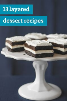 13 Layered Dessert Recipes – When it comes to desserts, layers are always in fashion! From layered JELL-O desserts and parfaits to festive tiramisus and trifles, there's no end to theses cool and creamy sweet treats.