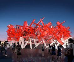 Coca Cola pavilion, Atelier Ten with Pernilla and Asif