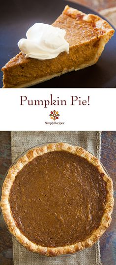 There's nothing better than homemade pumpkin pie for Thanksgiving, with fresh or canned pumpkin purée, cream, brown and white sugar, eggs, and pumpkin spice. On SimplyRecipes.com