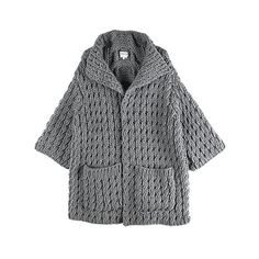 LUTZ & PATMOS / CABLE COATED CARDIGAN found on Polyvore