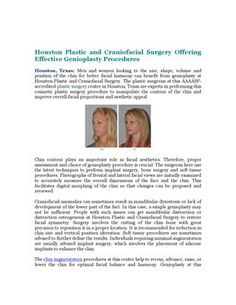 Houston Plastic and Craniofacial Surgery is providing effective genioplasty solutions to improve chin contour and overall facial proportions.