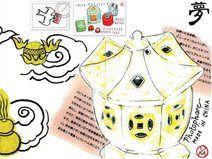 Carte Postale - extrait de mon Carnet d'Asie Intime ☼ Postcard - from my Asia's Sketchbook