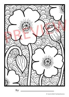 Anzac Day Poppy Art by Suzanne Welch Teaching Resources   TpT Classroom Resources, Art Classroom, Teaching Resources, Background Drawing, Background Patterns, Poppy Template, Armistice Day, Anzac Day, Remembrance Day
