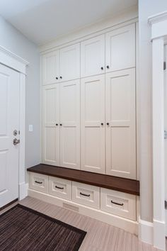 Horstmeier - Transitional - Entry - Salt Lake City - by Designs by Craig Veenker Mudroom Cabinets, Mudroom Laundry Room, Laundry Room Design, Mud Room Lockers, Hallway Closet, Design Living Room, Built Ins, Tall Cabinet Storage, New Homes