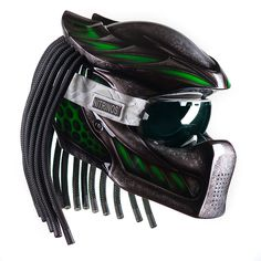 Predator Cross Helmet  Modification of the legendary Nitrinos helmet - Predator Cross.  We made that helmet for fans of active driving on motorcycles, ATVs, snowmobiles.  The main feature of the Predator Cross helmet - the possibility of removable glasses usage.  Helmet shell made up of several layers of fiberglass and Kevlar. Permanent ventilation for head blowing and removable inner part of the helmet for exploitation comfort.  www.nitrinos.ru