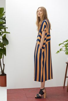 Rodebjer Resort 2016. Not sure I could pull off these stripes (short gal here), but I sure would love to try! AND I need those shoes!