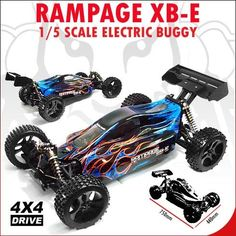 RAMPAGE XB-E RC Buggy Qty. 2 - 11.1v 3900mAh LIPO - BLUE