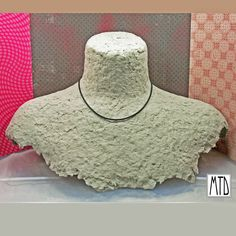 papier mache necklace bust display