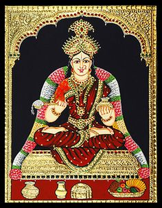 Tanjore paintings -Annaporna devi