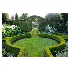 GAP Photos - Garden & Plant Picture Library - Formal garden with clipped box hed. - GAP Photos – Garden & Plant Picture Library – Formal garden with clipped box hedging - Formal Garden Design, Herb Garden Design, Formal Gardens, Outdoor Gardens, Box Hedging, Garden Hedges, Plant Pictures, Garden Architecture, Back Gardens