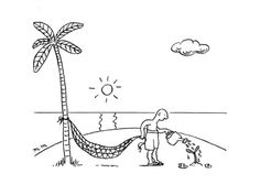 New Yorker Desert Island cartoon | desert island waters a tree hoping to use it for his hammock. - New ...