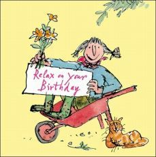 Click to view the Quentin Blake Lady in Wheel Barrow, Birthday Card - Happy Birthday Greetings  IMAGES, GIF, ANIMATED GIF, WALLPAPER, STICKER FOR WHATSAPP & FACEBOOK