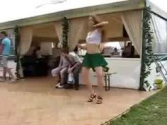 a girl dancing without watchers!!!