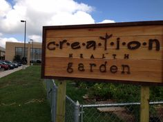 The new sign is up in CTMC's CREATION Health Garden, which provides fresh produce for the @haysfoodbank.