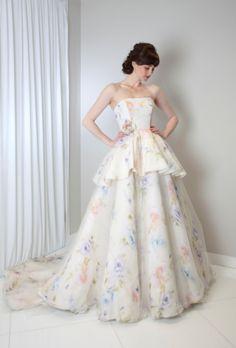 Floral glamour from Randi Rahm: http://www.stylemepretty.com/2015/04/22/randi-rahm-spring-2016/