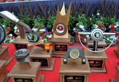 Cool Car Show Trophies | ... trophy variety at the Friends of Steve McQueen car show at the Chino