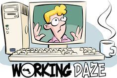Working Daze by John Zakour & Scott Roberts: Trapped at MacroMicroMedia (MMM is a wanna-be software giant) VP Rita will try anything that might make a little money (though her ideas usually don't.) Underpaid Dana carries the place and keeps it running, while overpaid Ed sleeps all day. Roy and Kathy are made for each other, and everyman Jay never knows when to keep his opinions to himself. | http://gocomics.com/working-daze | #comics #work #humor | © Zakour-Roberts