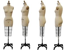 Professional Half Body Dress Form Mannequin Size6 w Hip Free Sewing Tool | eBay