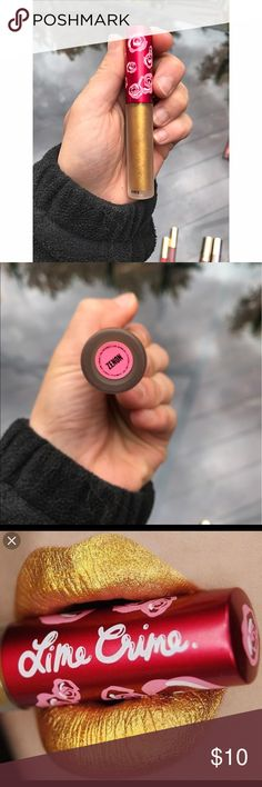 Lime crime liquid lipstick Zenon Lime crime liquid lipstick in the shade Zenon. Never worn only swatched! Very true gold color. New without box. lime crime Makeup Lipstick