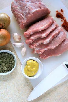 sio-smutki! Monika od kuchni: Schab duszony w sosie z papryką i musztardą Calzone, Pizza, Menu, Dinner, Food And Drinks, Menu Board Design, Dining, Food Dinners, Dinners