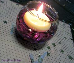 diy candle centerpieces, and other 50th birthday decorating ideas in Purple and Black.
