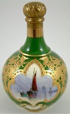 ANTIQUE ROYAL CROWN DERBY PERFUME BOTTLE HAND-PAINTED BY W. DEAN C.1903