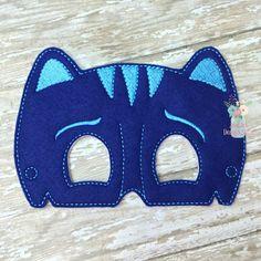 INTRO PRICE PJ Super Hero Inspired Mask Blue Cat Boy Childrens Felt Mask Super Hero Mask Dress up Costume