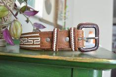 Vintage Leather Belt | Etsy