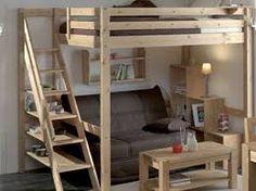 """Résultat de recherche d'images pour """"fabriquer une mezzanine lit"""""""