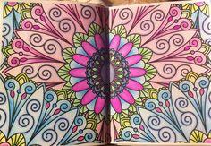 Desenho colorido pela leitora Joana Nunes | Livros de #Colorir #Arte-terapia