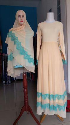 Gamis Syar'i GSB02 Islamic Fashion, Muslim Fashion, Niqab Style, Hijab Style Dress, Kaftan Abaya, Niqab Fashion, Hijab Niqab, Office Looks, Abayas