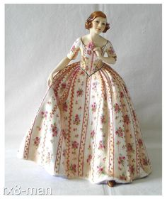 1936 ULTRA RARE ROYAL WORCESTER THE DUCHESS DRESS FIGURINE PUCE MARK