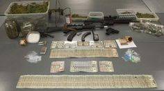 Seized Weapons, Cash and Drugs