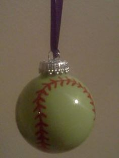 I think I would personalize each one...Made these for the girls on the travel team, softball ornaments!